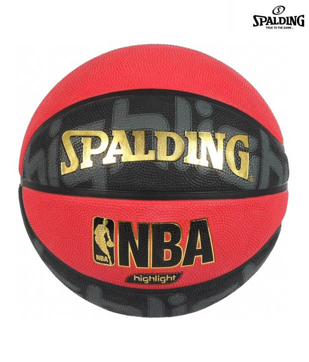 Spalding nba highlight red outdoor basketball ball buy online at best price on snapdeal - Spalding basketball images ...