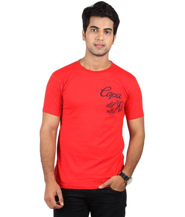 Bendiesel Red Cotton T-shirt