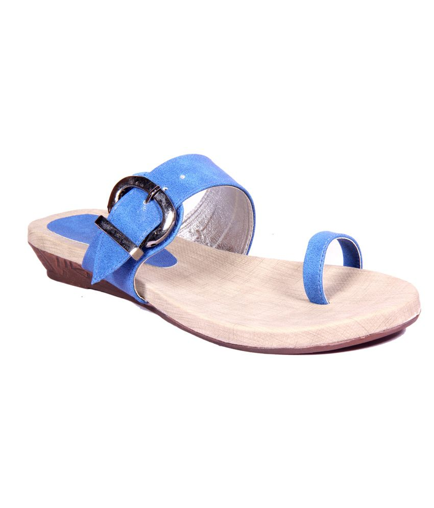 7df7975a1e00 Foot Step Deep Blue Women Sandals with TPR Sole Price in India- Buy Foot  Step Deep Blue Women Sandals with TPR Sole Online at Snapdeal