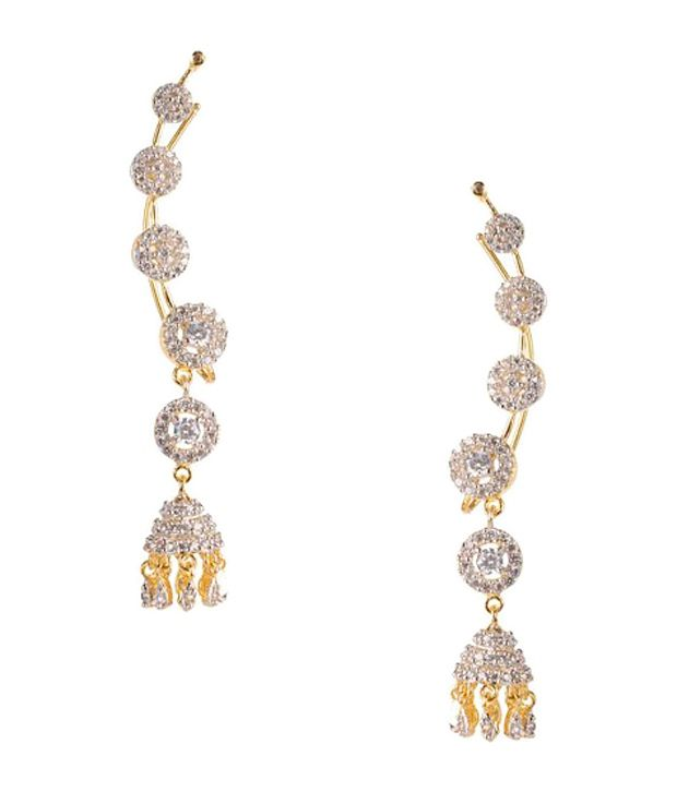 Jhumka Cz Earring Cuffs By Chaahat Buy Jhumka Cz Earring Cuffs By