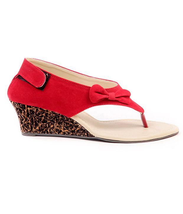 050d18ac91a Ten Dutch Heel Red Sandals Price in India- Buy Ten Dutch Heel Red ...