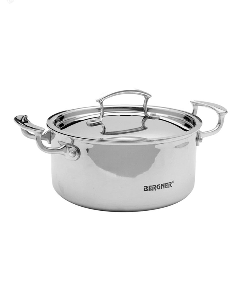 Bergner Tri Ply Stainless Steel 3 Ltrs Cooking Pot With