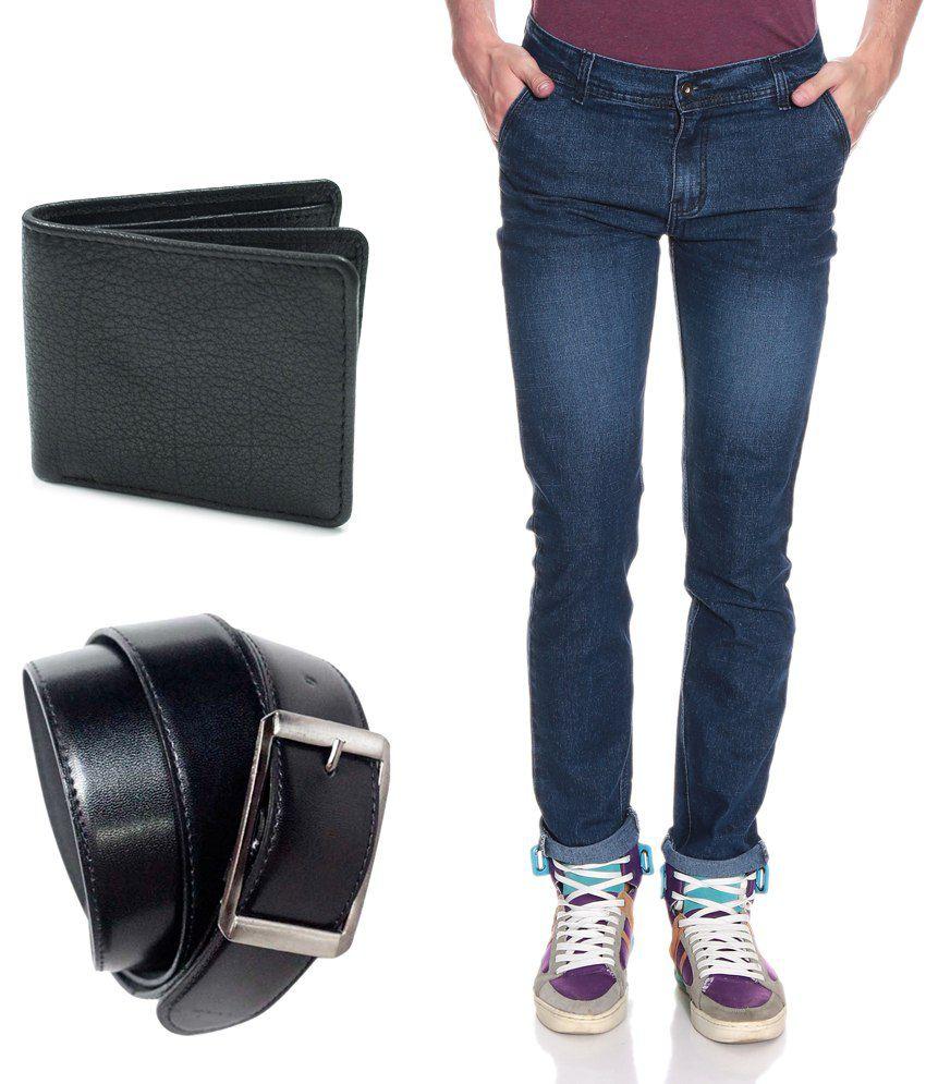 Fashion Blue Slim  Jeans