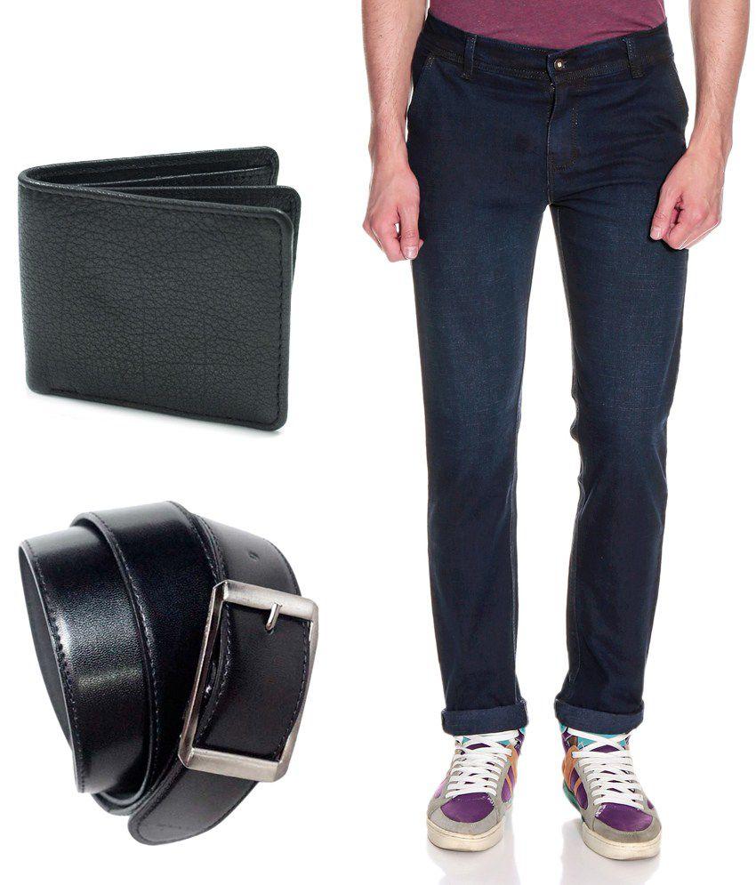 Fashion Blue Slim Basic