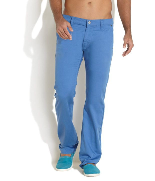 Lee Blue Slim Casual Trouser