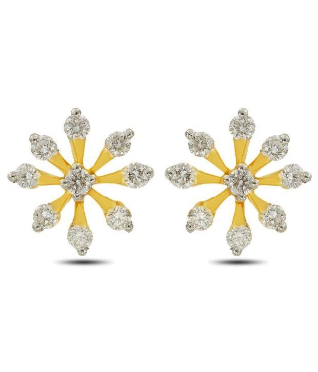Bejewelled Blossom Diamond Studs By P.N.Gadgil