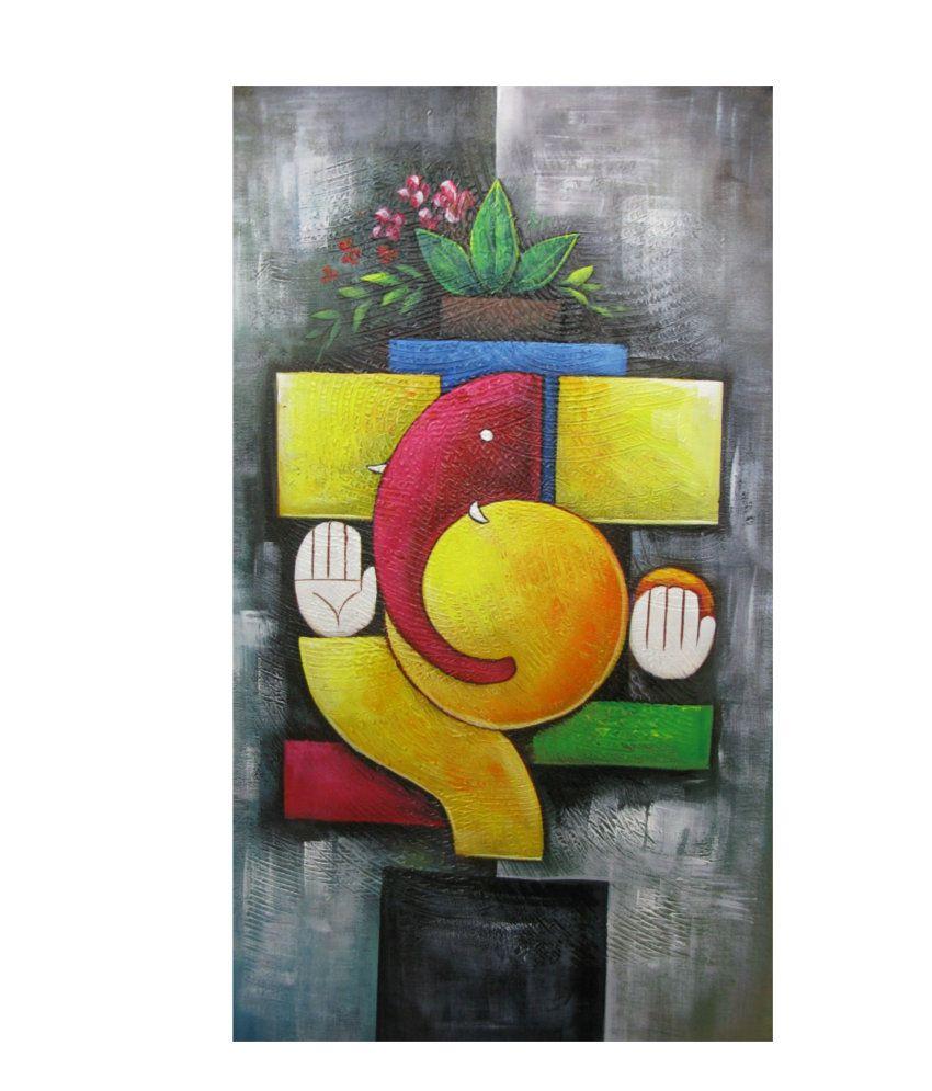 Fizdi Modern Art Canvas Abstract Ganesh Fizdi