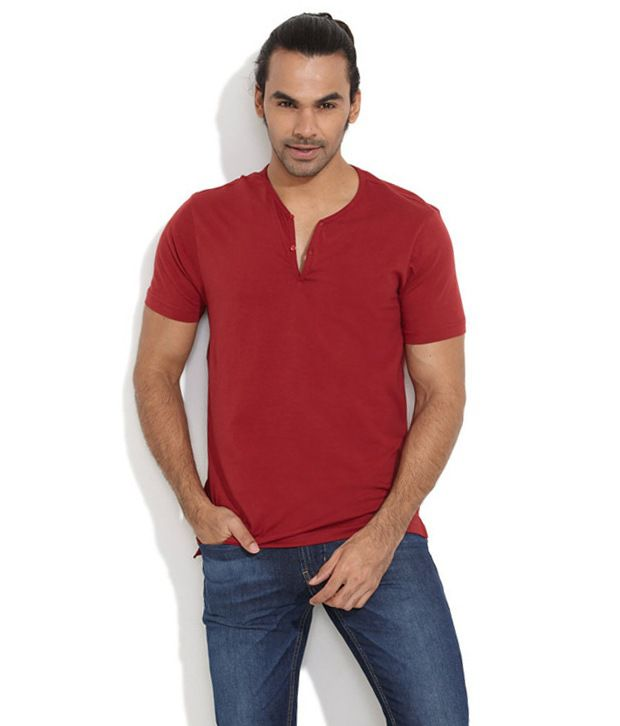 Freecultr Red Cotton T-shirt