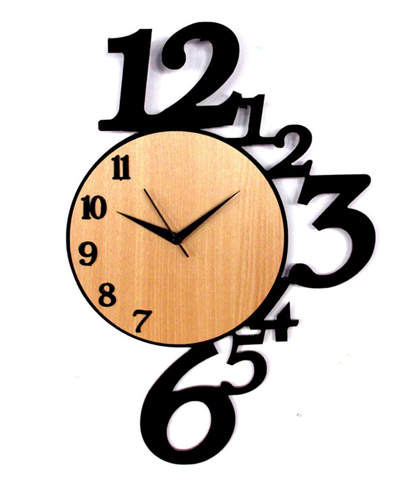 Where Can I Buy A Clock Part - 29: Panache Wooden Number Wall Clock. ServiceCentreDetails