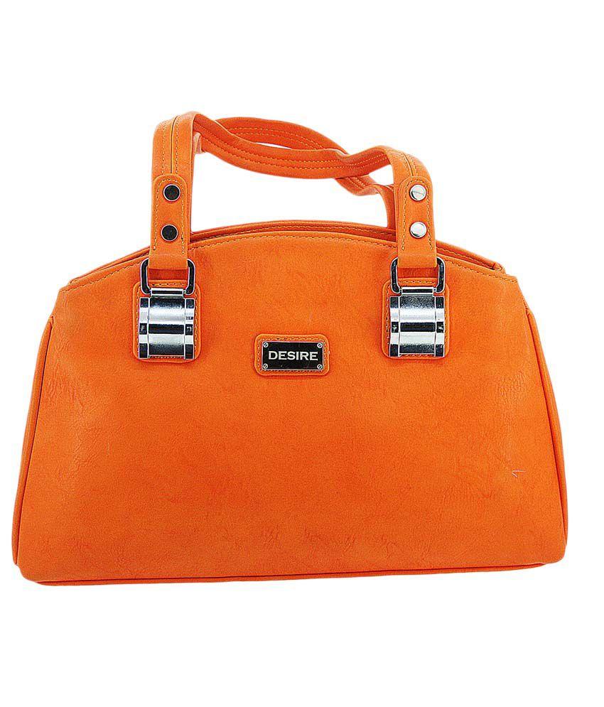 Desire Fashionable Womens Hand Bag - Orange