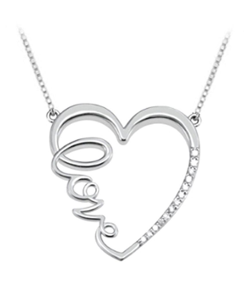 3182636f03887 Diamond Heart Love Infinity Necklace in 14K White Gold Quarter Carat ...