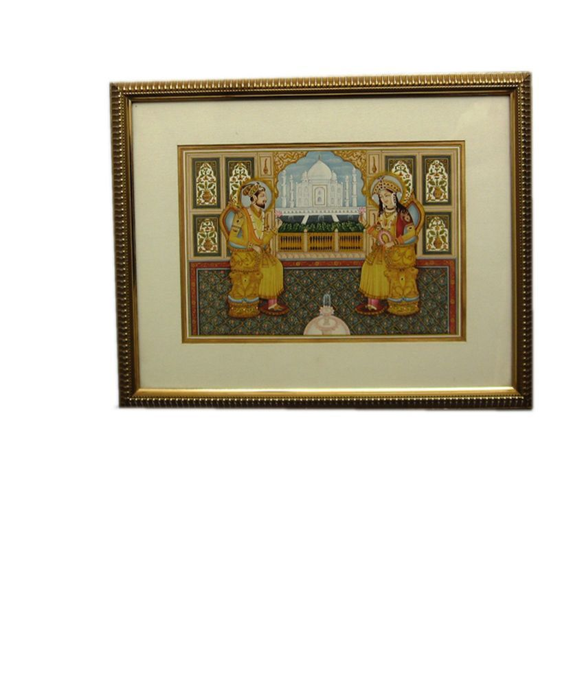 Icb Miniature Mugal Pair Painting On Rice Paper