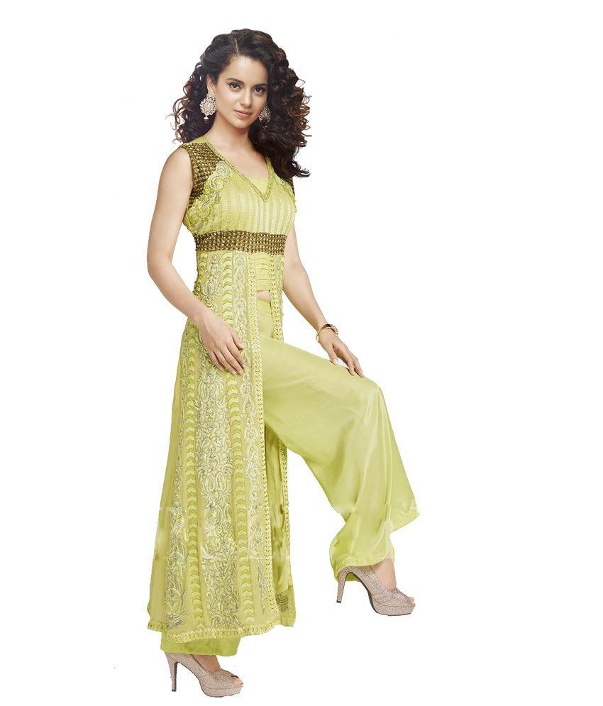 7dd6eedc82 ... Indiweaves Festival Collection Designer Party Wear Georgette Salwar  Suit Dress Material