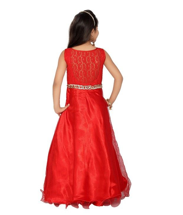 7322d9c4c3 K&U Red Color Party Wear Gown For Kids - Buy K&U Red Color Party Wear Gown  For Kids Online at Low Price - Snapdeal