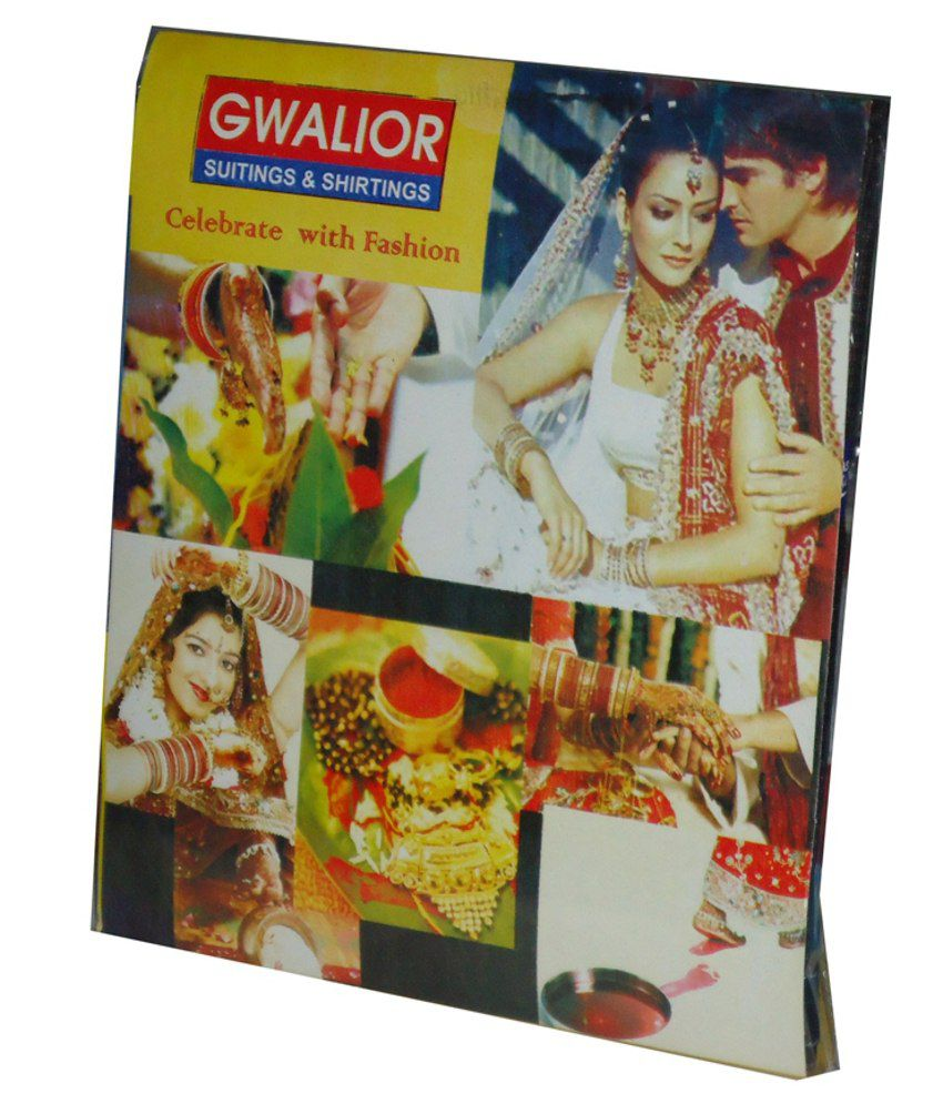 Gwalior Suitings Gray Poly Blend Unstitched Shirts & Trousers