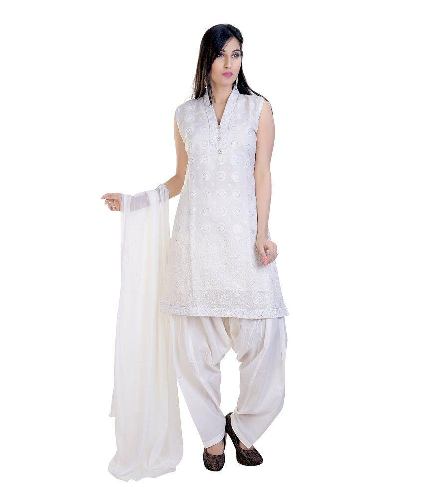 564558ba0bf Mint White Cotton Salwar Suit - Buy Mint White Cotton Salwar Suit Online at  Low Price - Snapdeal.com