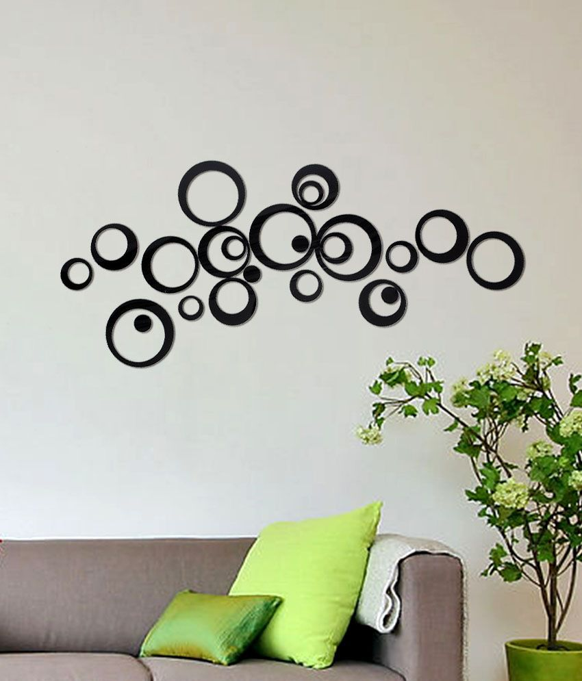 Wall Decor Stickers Snapdeal : Wow interiors and decors black imported cast acrylic d