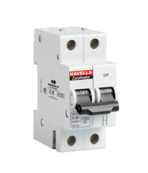 Buy Havells 10a Double Pole Mcb Miniature Circuit Breaker