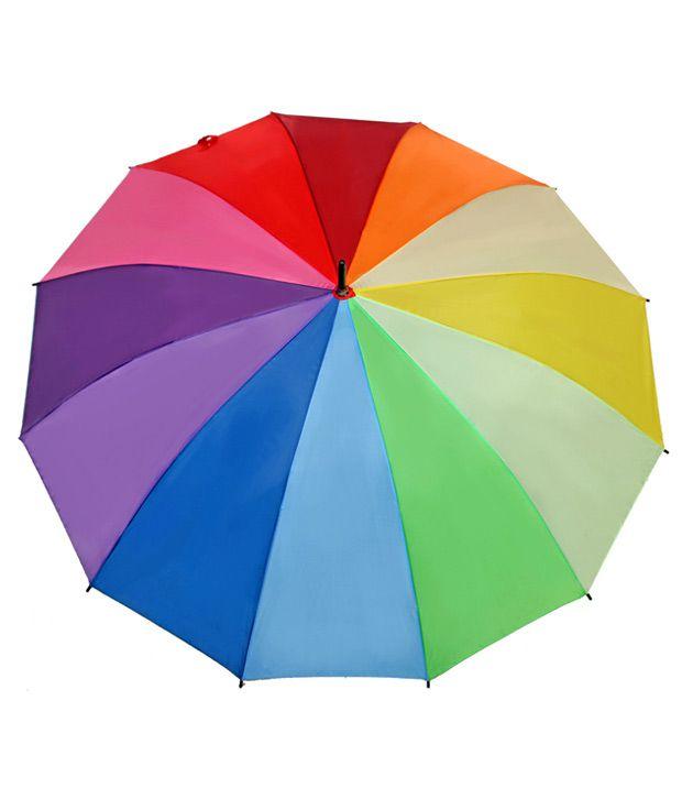 a2d3eccef8ed Happy Rainbow Colours Big Umbrella