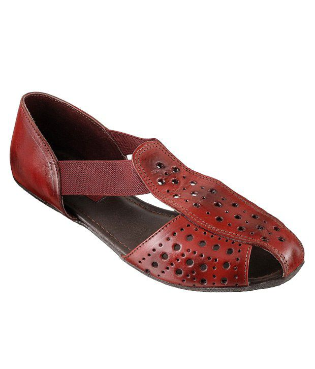 MOCHI Maroon Sandal