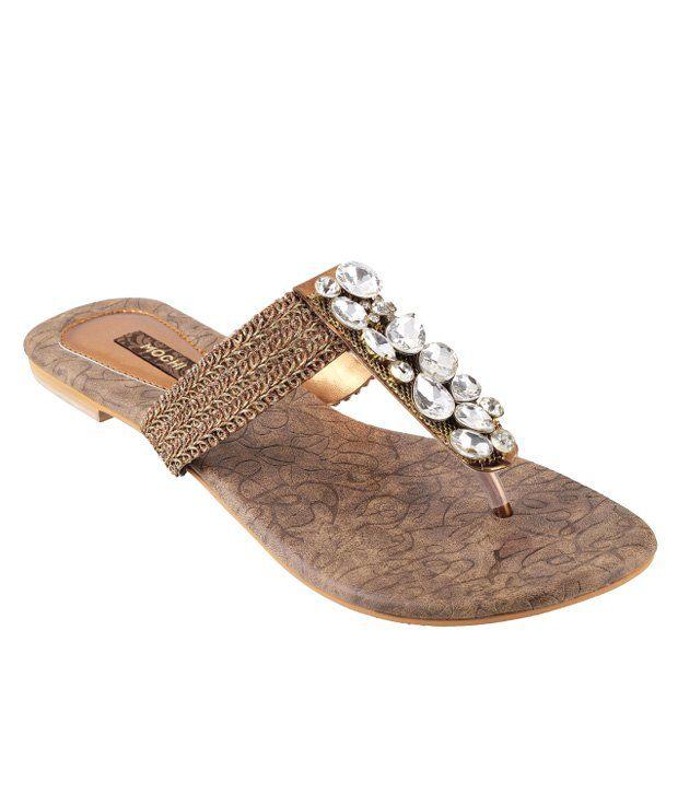 Mochi Gold Flat Slip-On