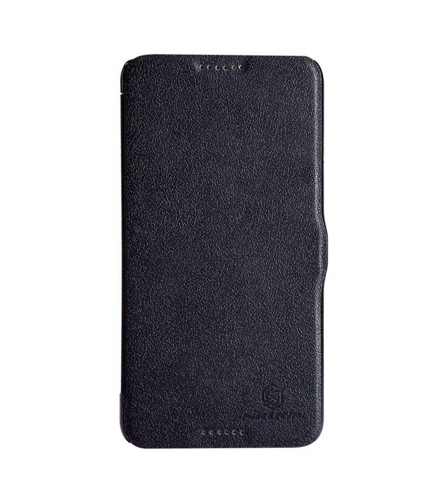 new concept e8141 b587e Nillkin Fresh Series Leather Flip Cover For Htc Desire 816 - Black