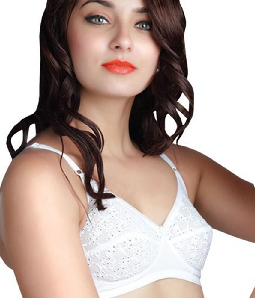 c06878fadd Buy Klove White Non-padded Bra Online at Best Prices in India - Snapdeal