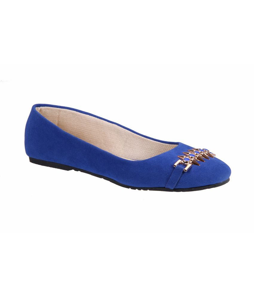 SOFT&SLEEK Blue Flat Sandal