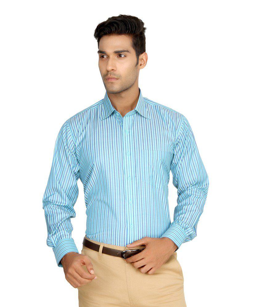Devaa Deeper Aqua Blue Wrinkle Free Shirt