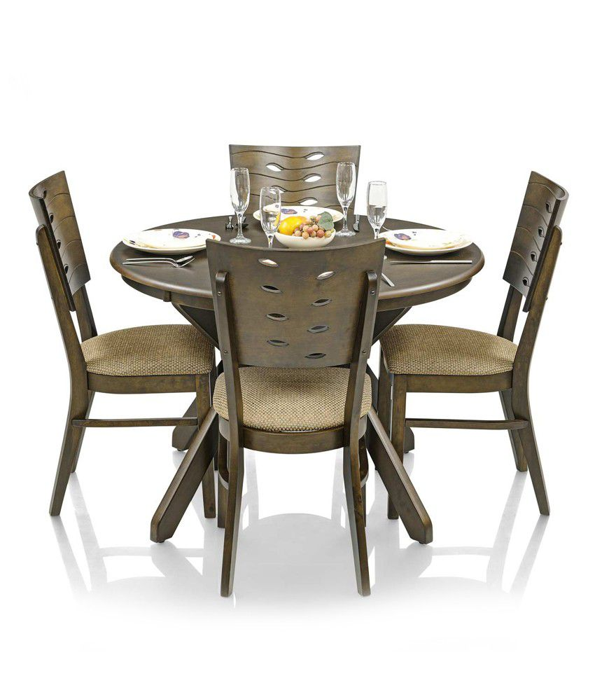 royaloak sydney dining set with 4 chairs solid wood round buy