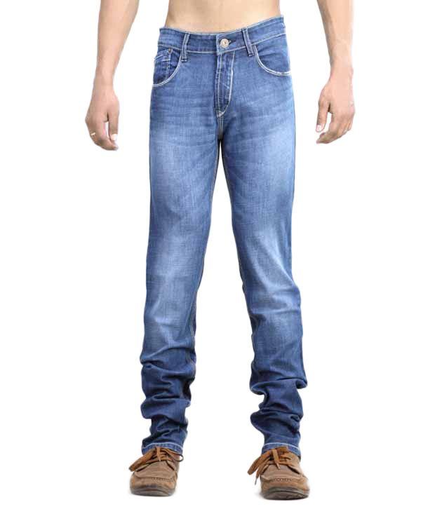Josh Button Blue Men's Jeans