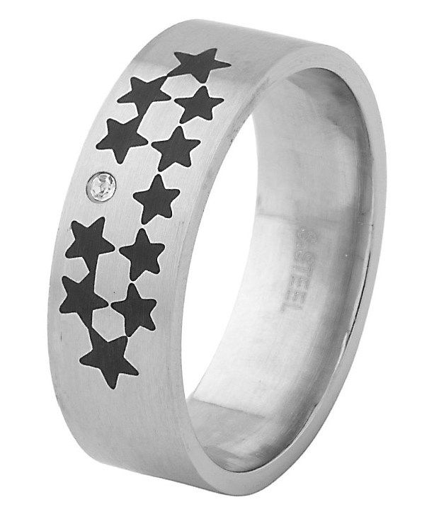 Voylla Trendy Mens Ring With Star Shape Design