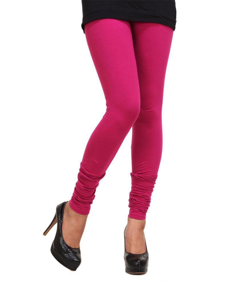 0c37d99692f9df Go Colors Cotton Stretch Pink Churidar Leggings Price in India - Buy Go  Colors Cotton Stretch Pink Churidar Leggings Online at Snapdeal