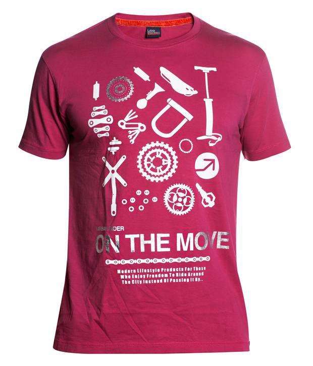 Lee Pink Cotton T-shirt