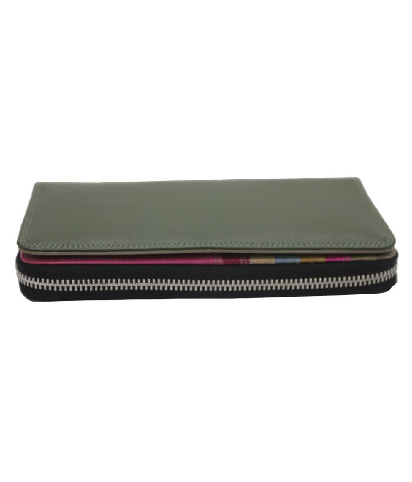 Mex Green Leather Casual Regular Wallet