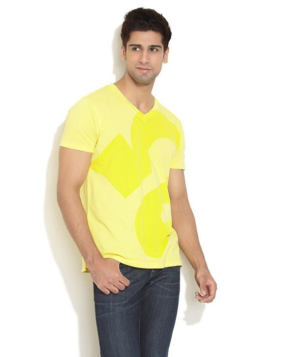 Republic Of Spiel Yellow Cotton T-shirt
