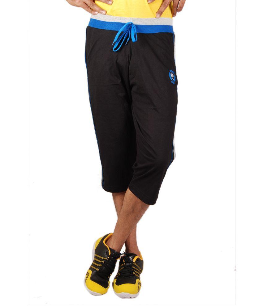 Sports 52 Wear Mens 3/4 Pants-S52Wgf008-Blk-Blu-L
