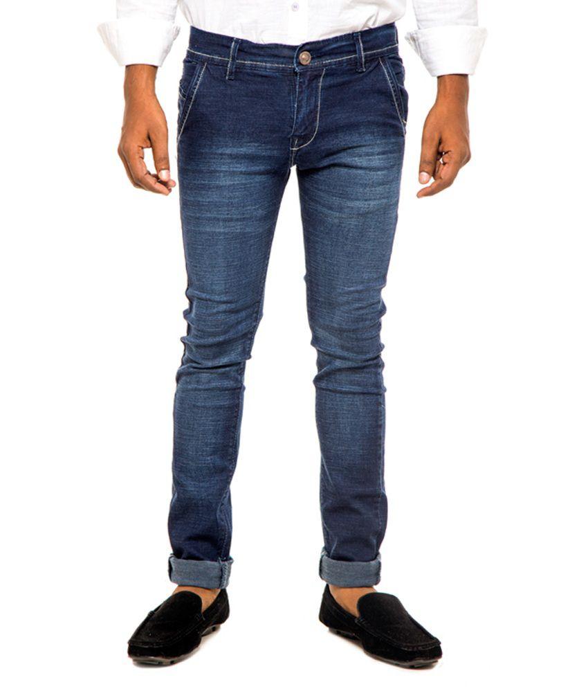 Gravlee Blue Regular Fit Jeans