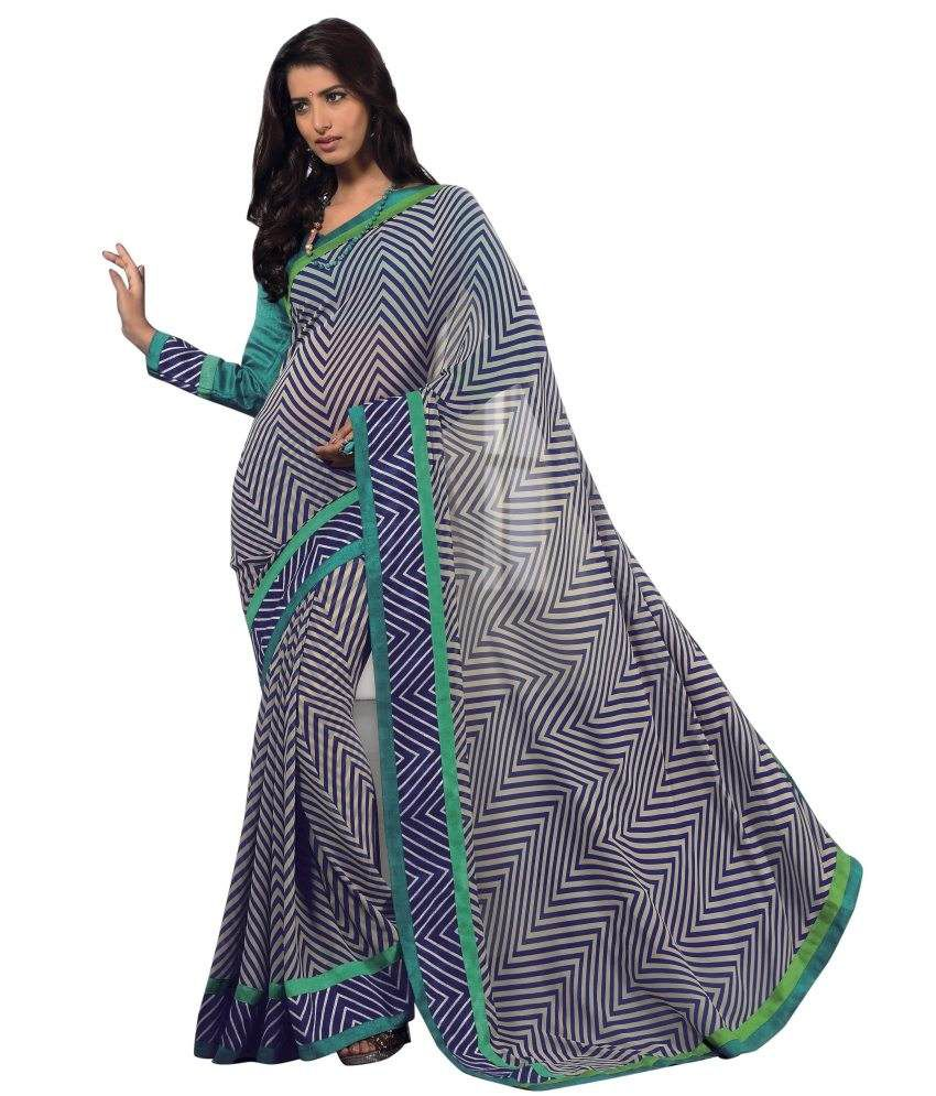 Triveni Charming Printed Comfortable Faux Georgette Saree