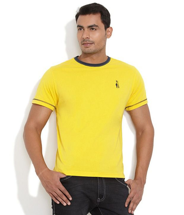 Smokestack Yellow Cotton T-shirt
