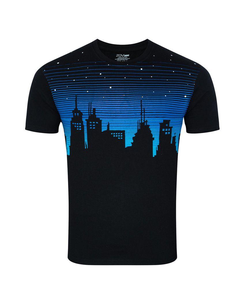 Zovi City At Night Black Graphic T-shirt