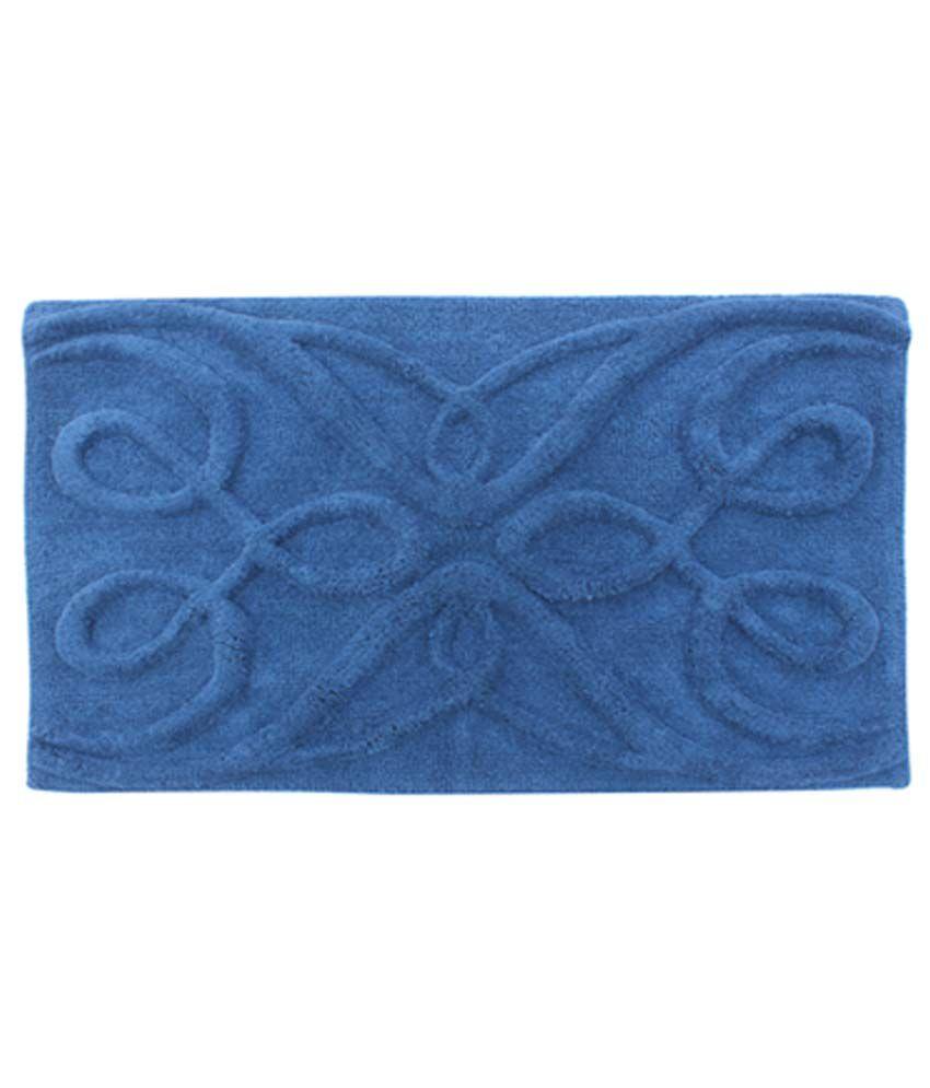 Azaani Snake Blue Cotton Floor Mat