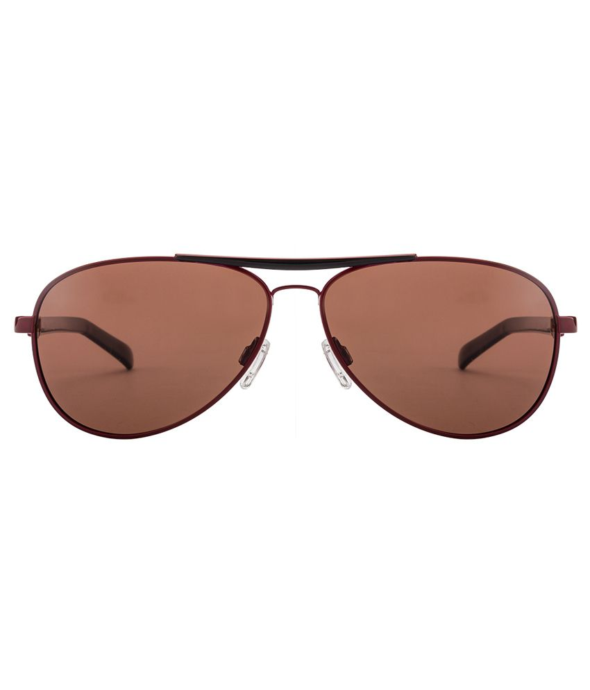 0639ad4f3e7d9 ... Lee Cooper LCO9053 Size 60 Red Black Brown WINE Aviator Polarized  Sunglasses ...