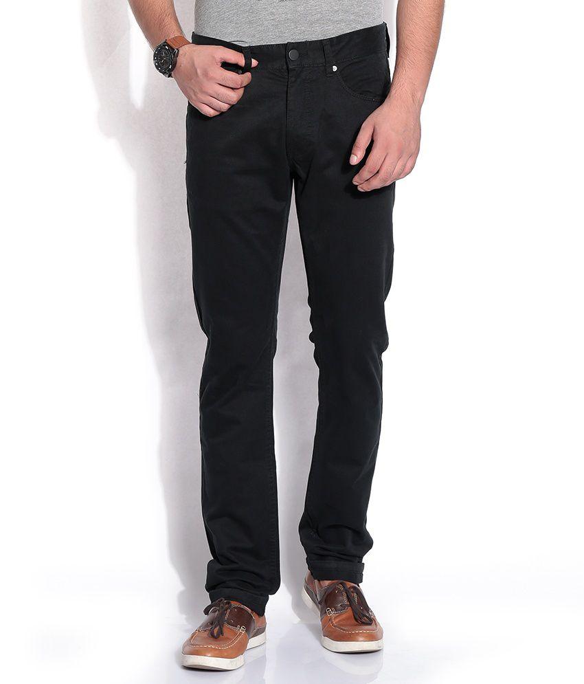 Jack & Jones Black Slim Casuals Trousers & Chinos