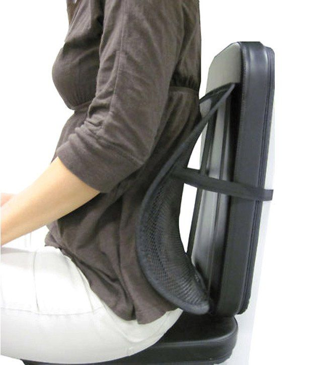Mpi fortable Mesh Ventilate Car Seat fice Chair Massage Back Lumbar Support