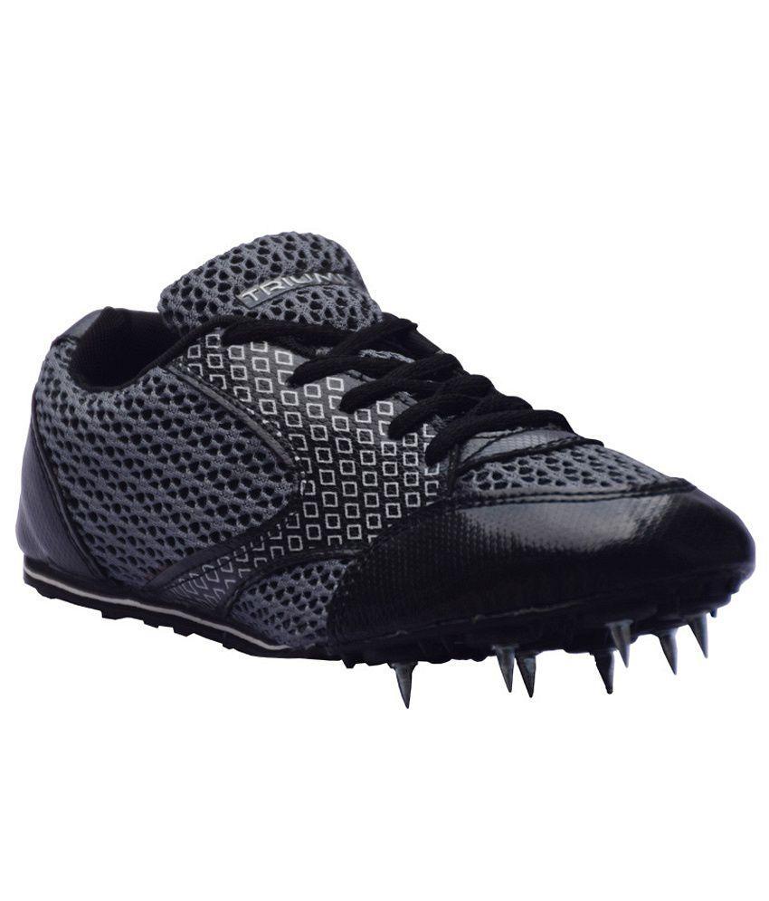 Triumph Black Stallion Running Spikes Shoes