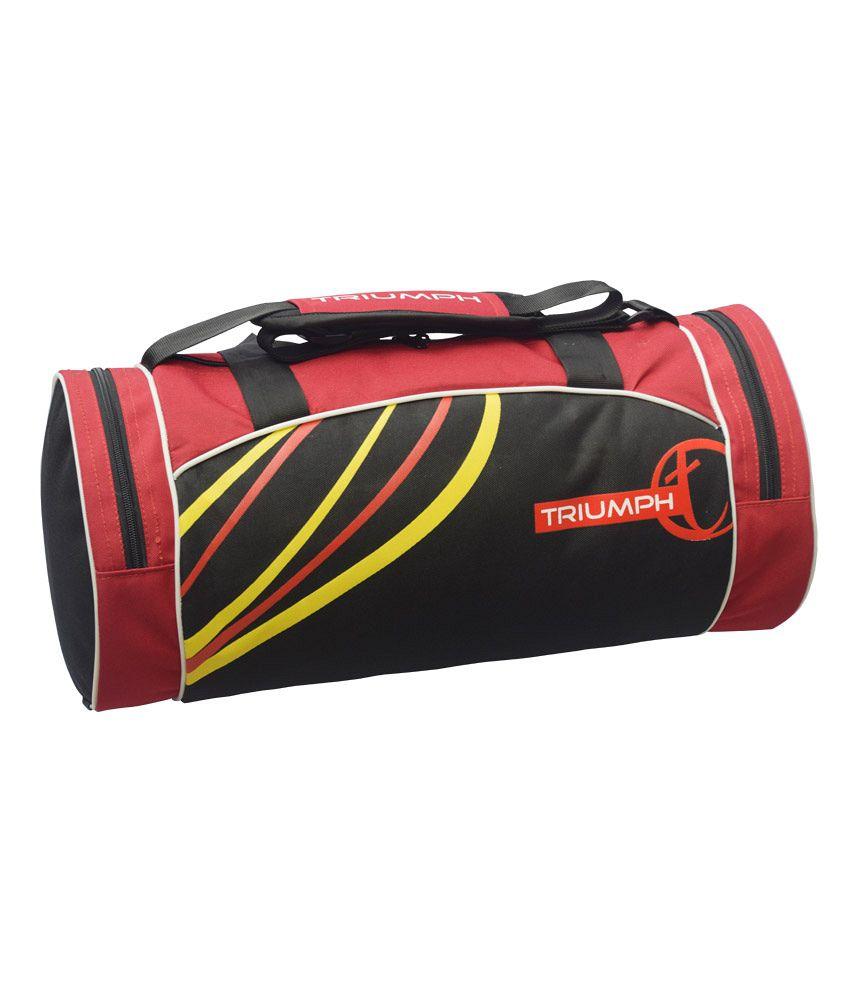 Triumph Red Black Cricket//multipurpose Gym Bag