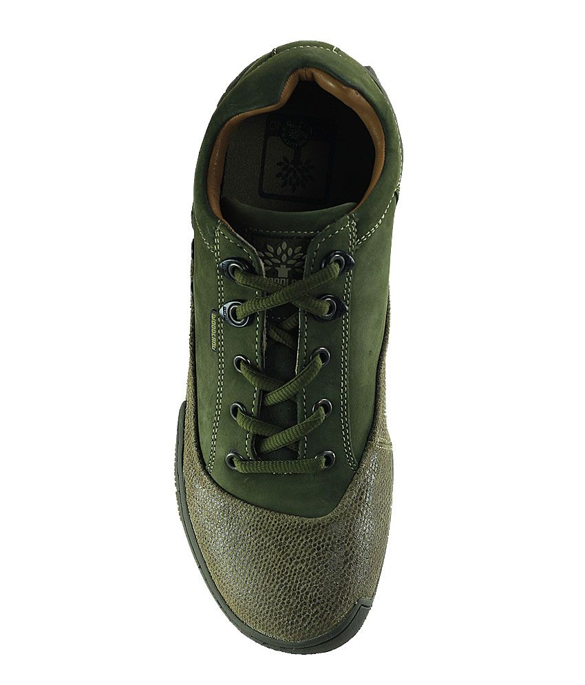 Woodland Green Color Casual Shoes For Men