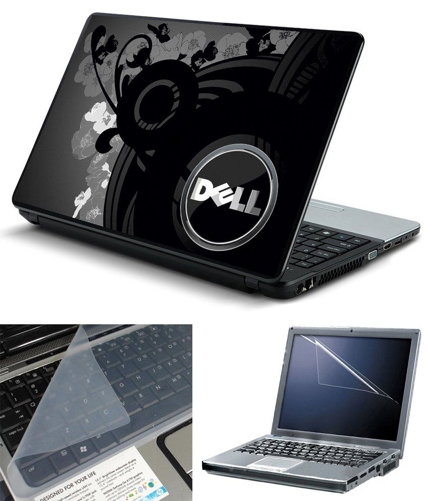 Finest 3 In 1 Laptop Skin Pack 15.6 Inch - Screen Guard - Static Keyboard Protector - Theme Dell