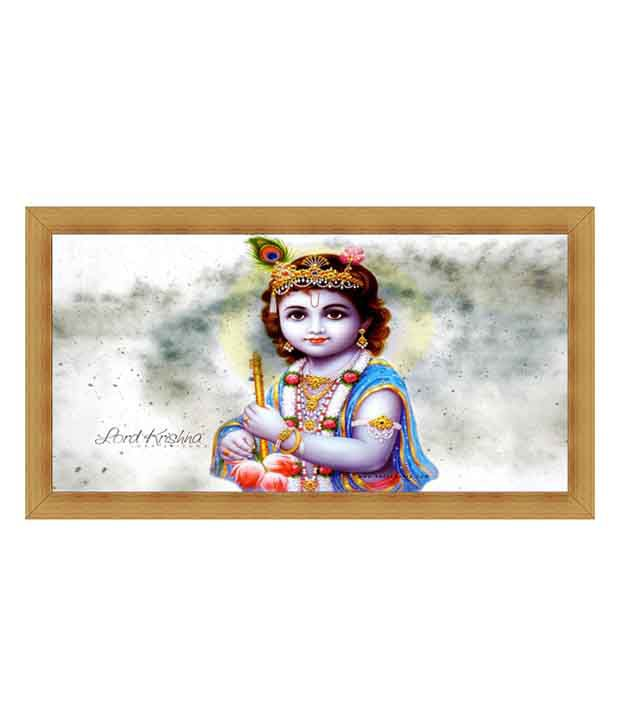 Jstarmart Bal Krishna Painting With Frame